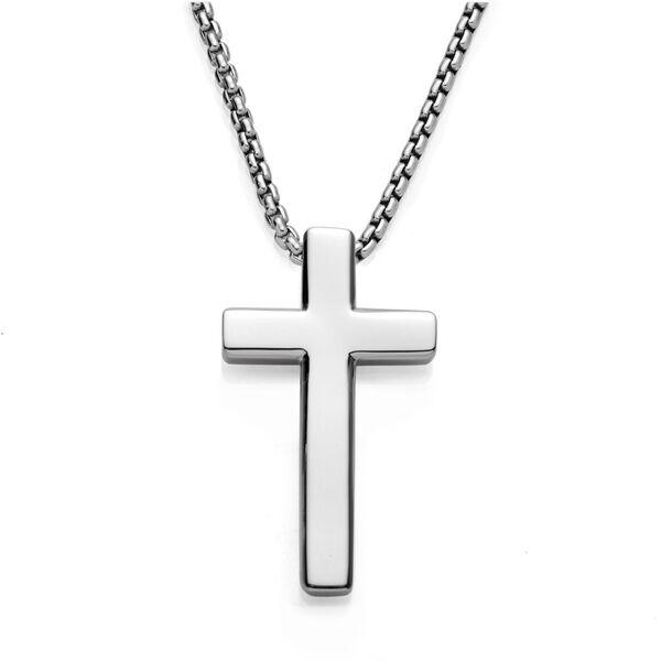 Beveled Cross Pendant