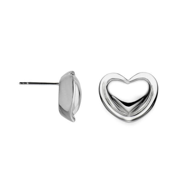 Nambé Signature Heart Stud Earrings