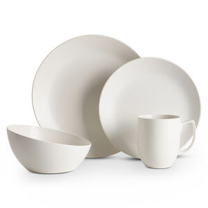 Orbit 4-Piece Place Setting - Starry White