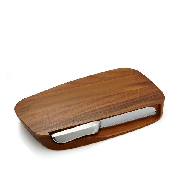 """Blend Bread Board w/ Knife - 17.5"""""""