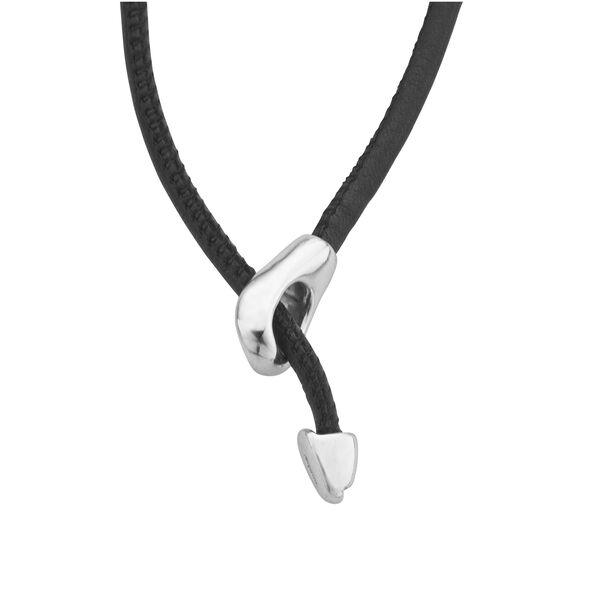 Cross Necklace on Leather