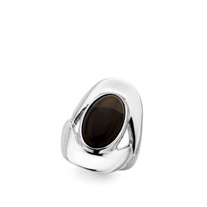 Oval Ring - Smokey Quartz