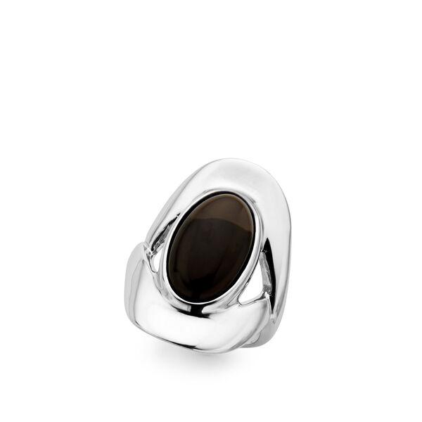 Oval Ring - Smokey Quartz - Size 9