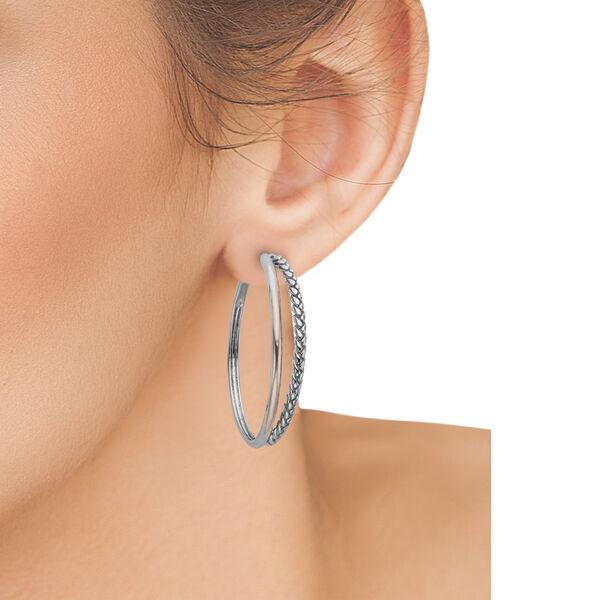 Detached Braid Hoop Earrings