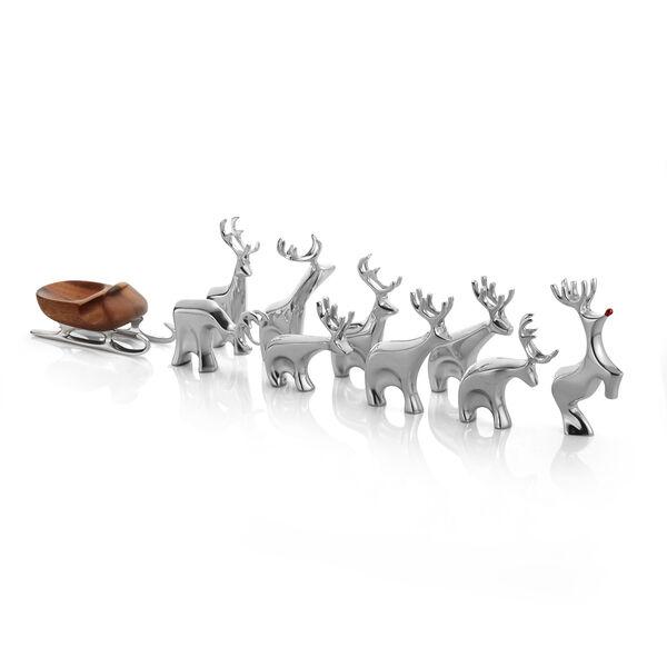 10-Piece Miniature Reindeer Set