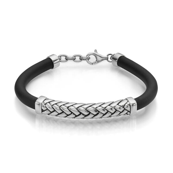 Braid and Rubber Bracelet