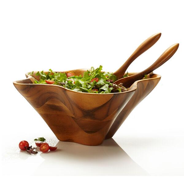 Oceana Coral Salad Bowl w/ Servers