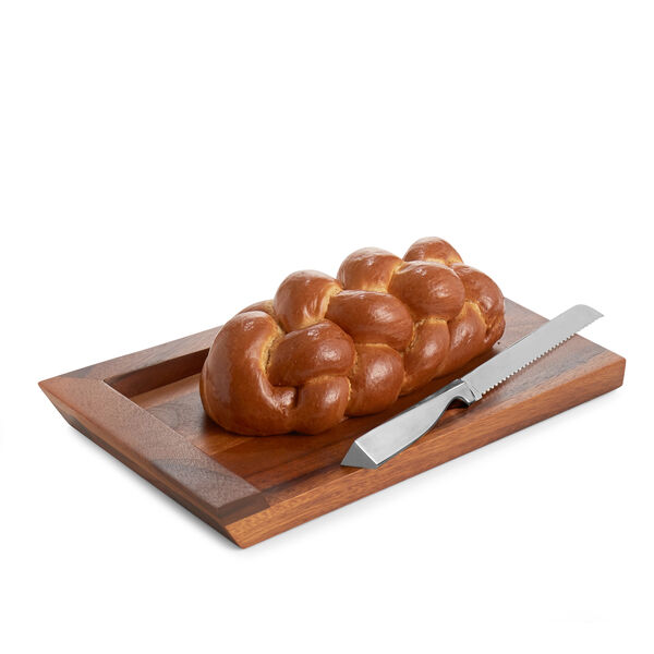 Geo Challah Board w/ Knife