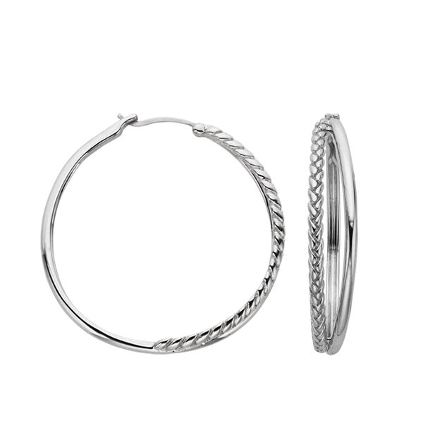 Detached Braid Hoop Earrings