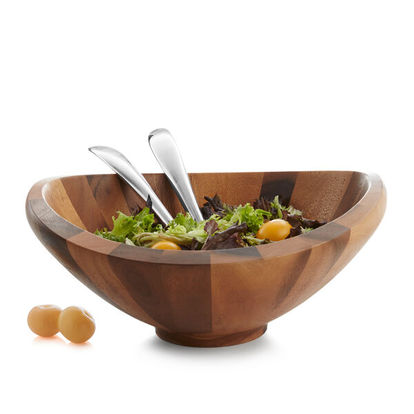 Butterfly Salad Bowl W/ Servers