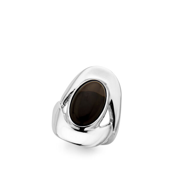 Oval Ring - Smokey Quartz - Size 9