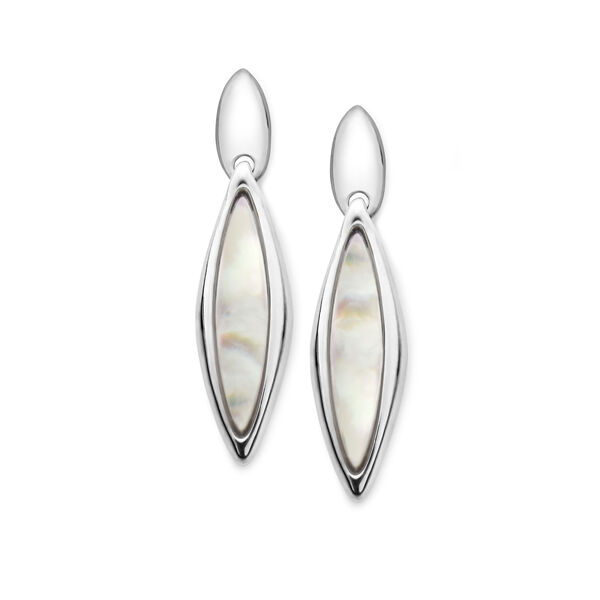 Marquise Earrings - Mother of Pearl