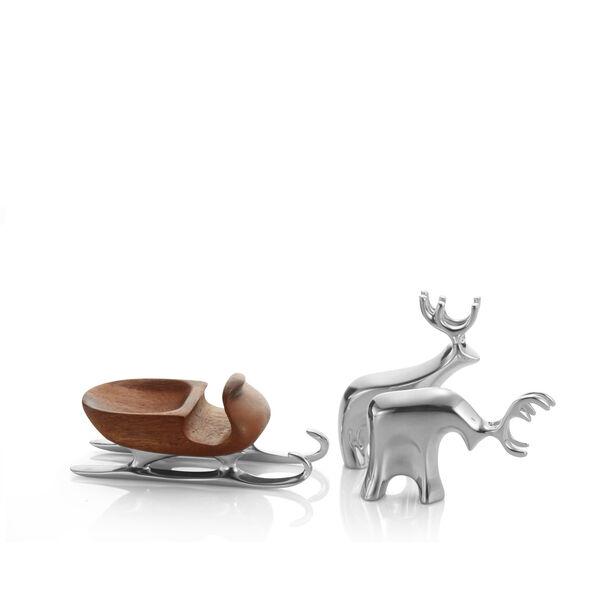 Miniature Sleigh w/ Reindeer Set