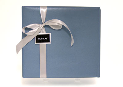 Nambe's signature gift wrapping