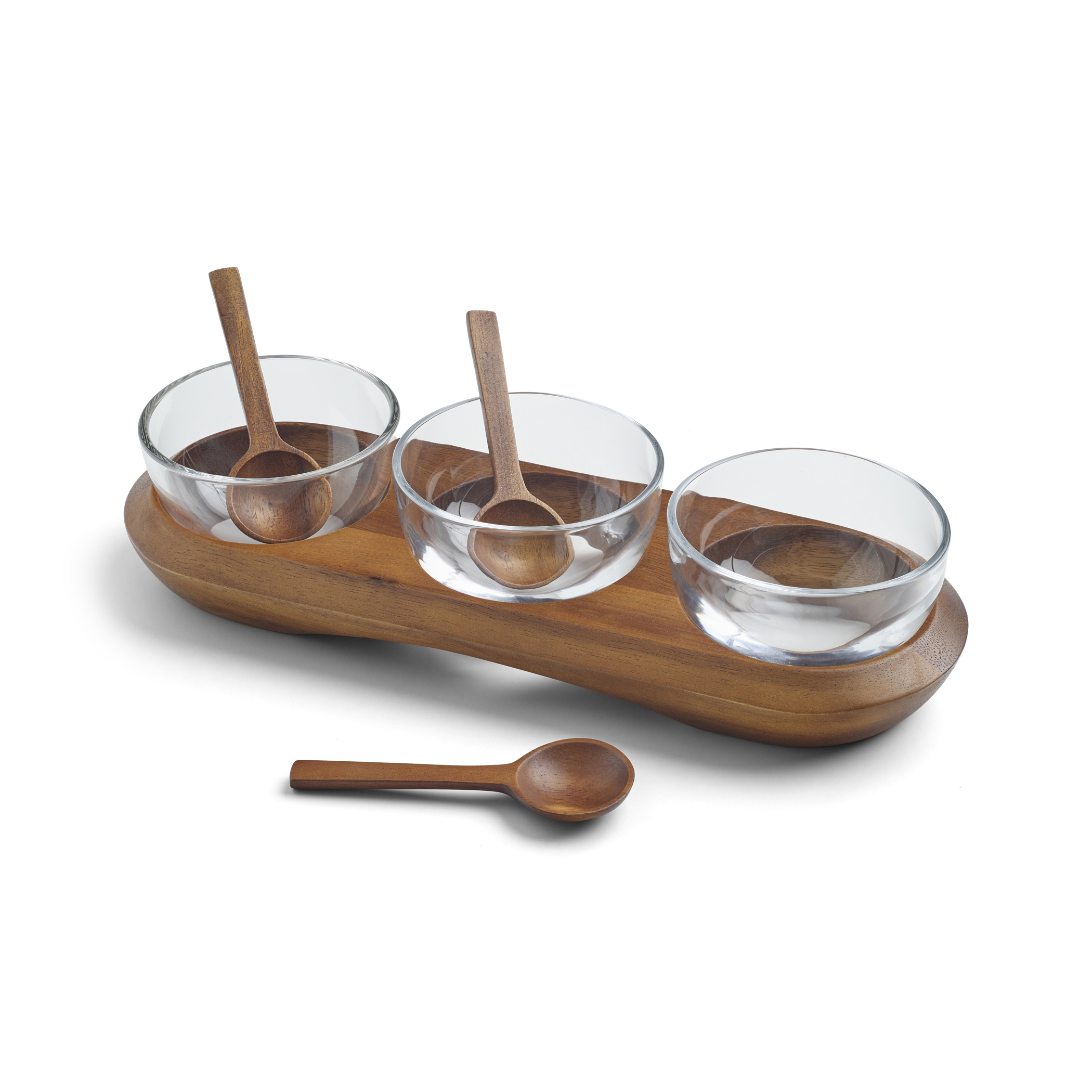 Cooper Triple Condiment Server w/ Spoons image number 1
