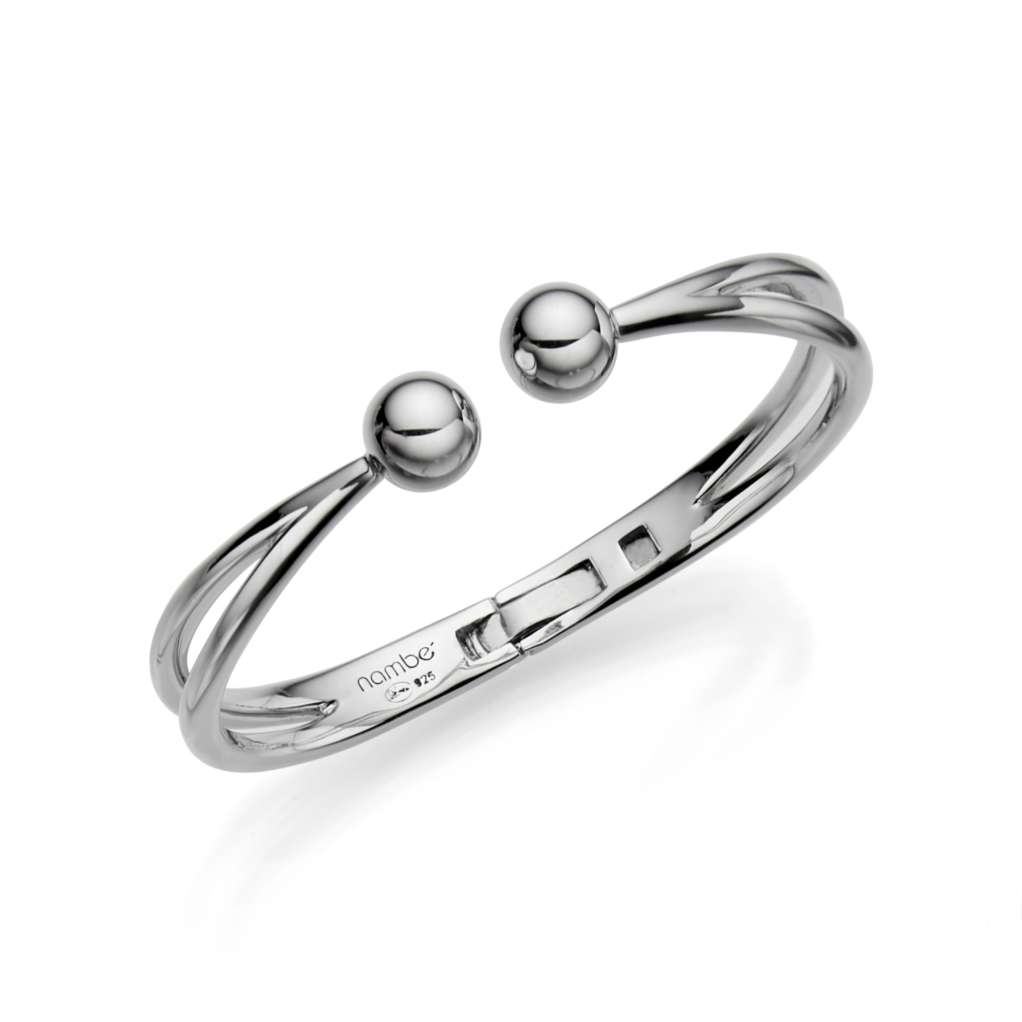 Rain Drop Hinged Bangle Bracelet image number 0