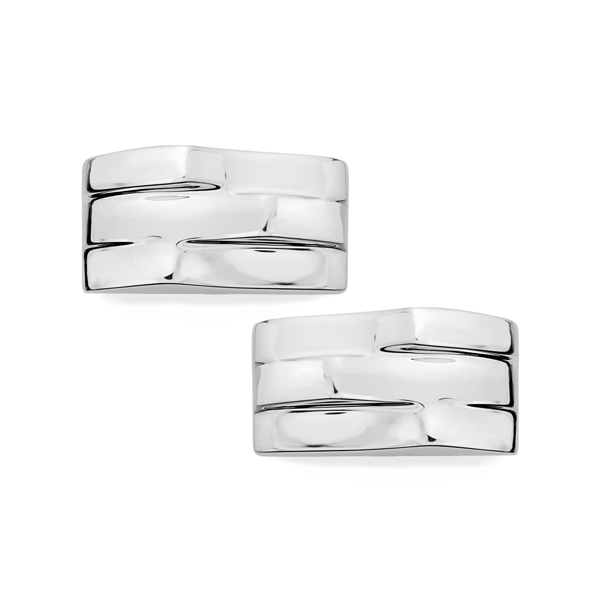 Triple Wave Cufflinks image number 0