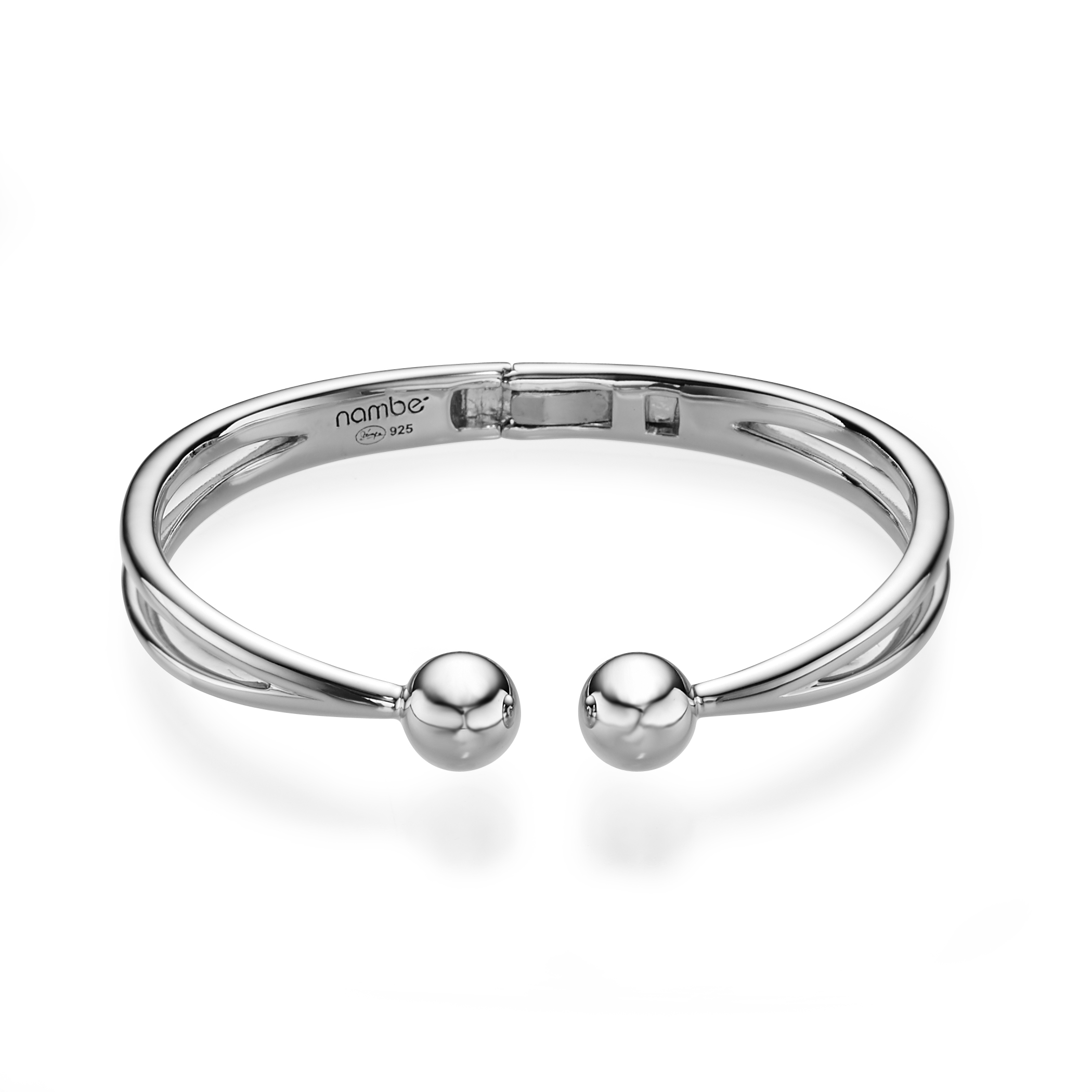 Rain Drop Hinged Bangle Bracelet image number 1