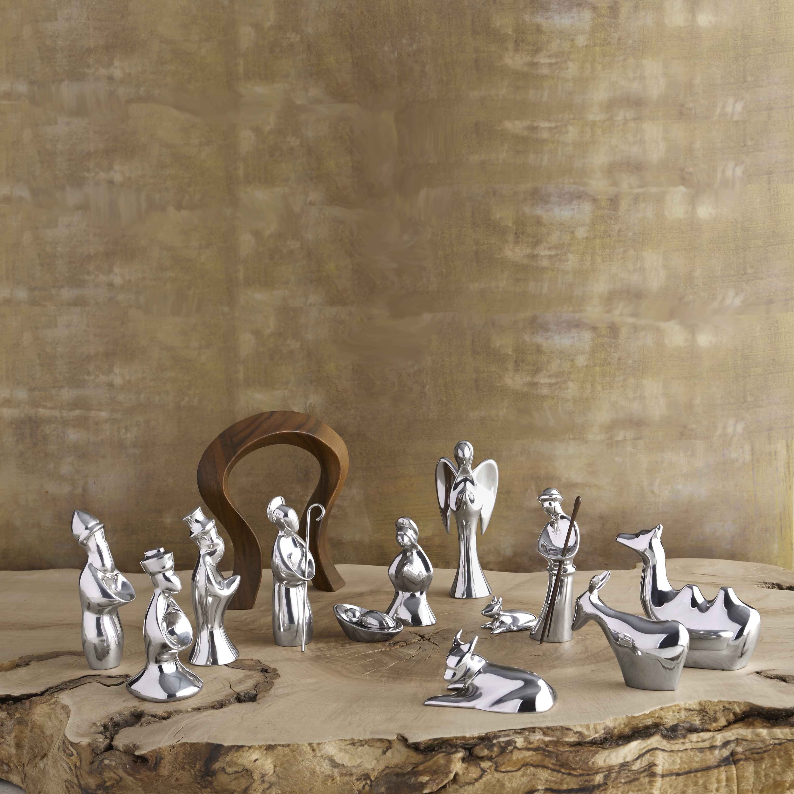 13-Piece Miniature Nativity Set with Free Storage Box image number 1