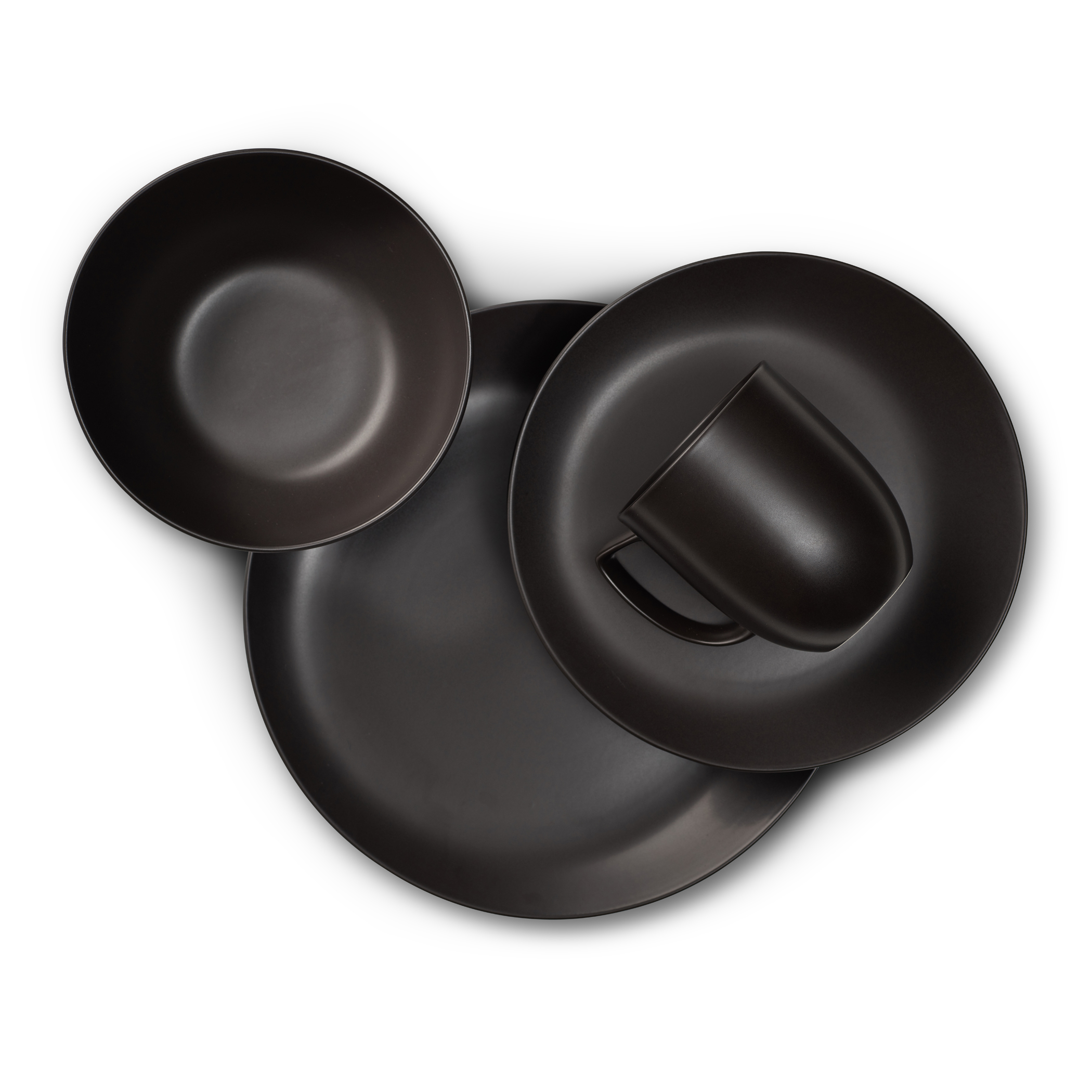 Orbit 4-Piece Place Setting - Celestial Black image number 1