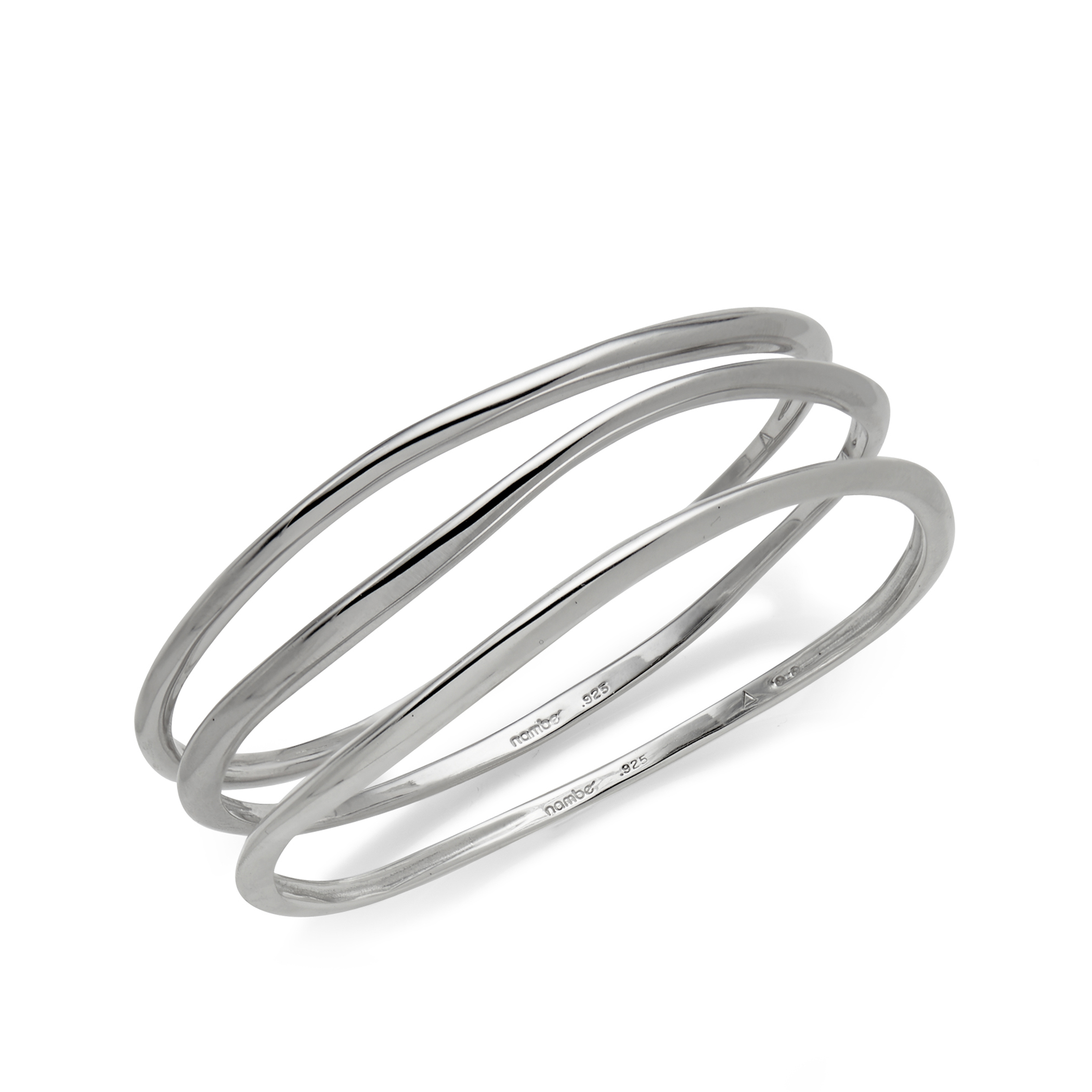 Signature Bangle Bracelets (Set of 3) image number 0