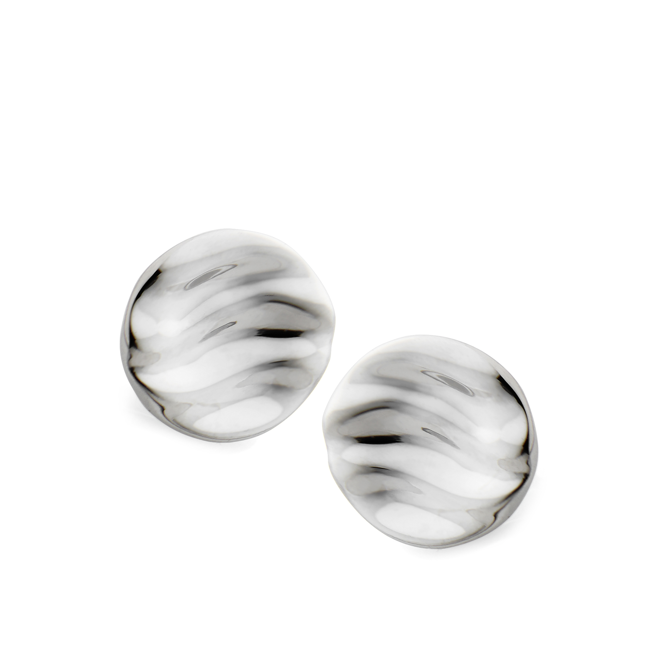 Rippled Stud Earrings image number 0