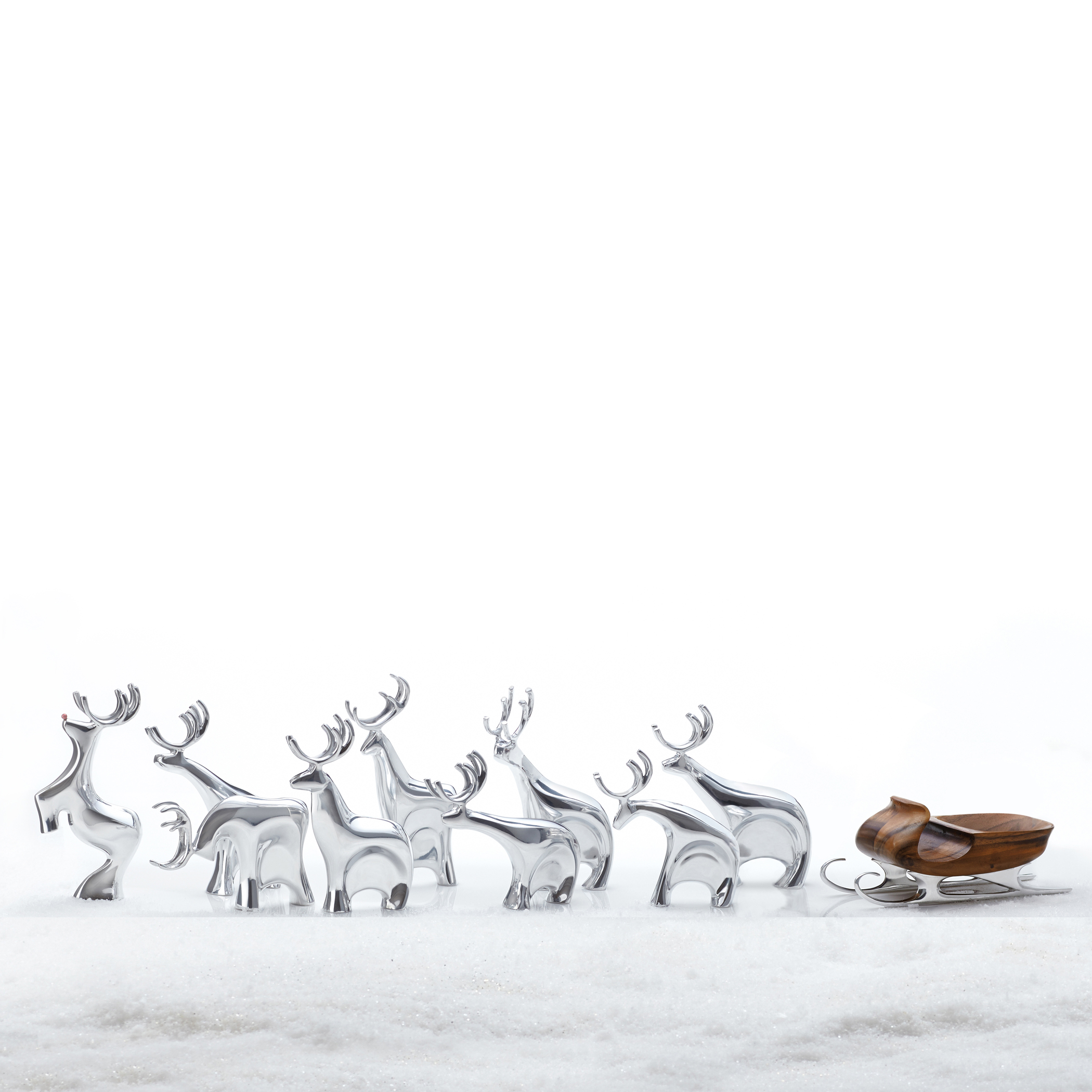 Dasher Reindeer Figurine Set image number 2